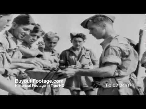 HD Stock Footage WWII Desert Victory Reel 3