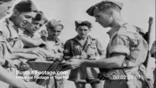HD Stock Footage WWII Desert Victory Reel 3