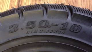 3.5-10 Scooter Tire Made by: Sufeng