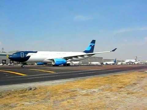 MEXICANA DE AVIACION estrena su nuevo AIRBUS A330-200 .wmv