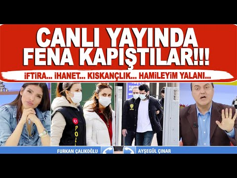 Ayşegül Çınar Furkan Çalıkoğlu canlı yayında yüzleşti! Taşlar bir bir döküldü!