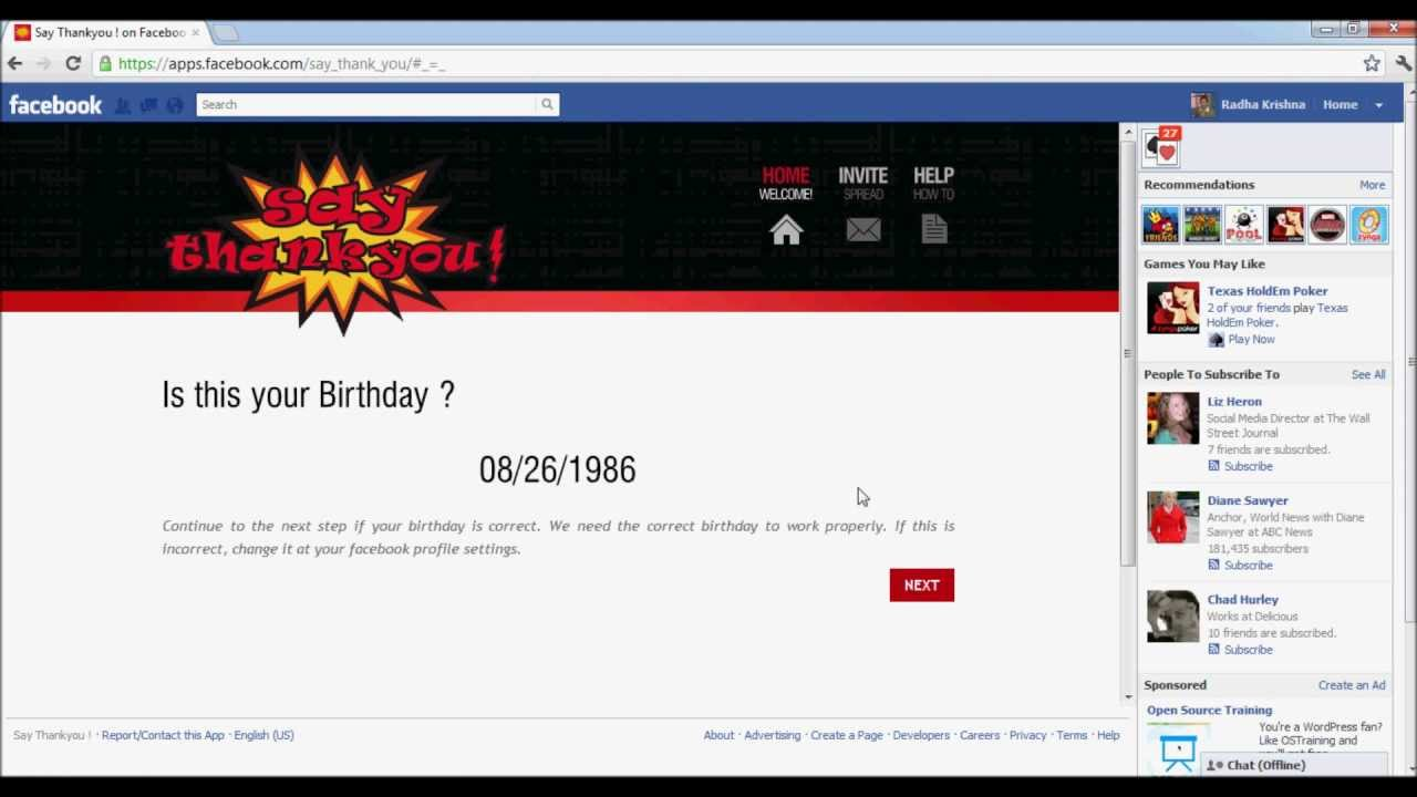 Automatically Send Replies To Birthday Wishes On Facebook