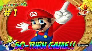 Mario Party 6! 50-Turn Spectacular! Part 1 - YoVideogames