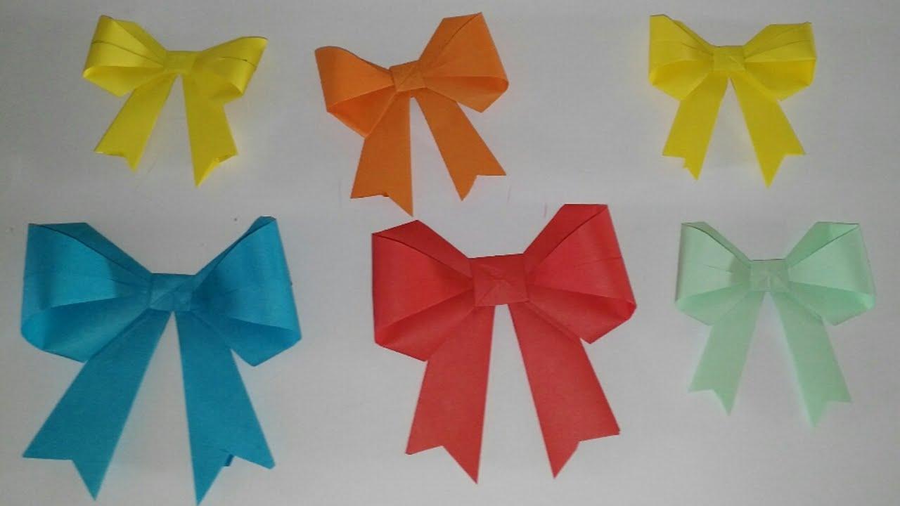 Lazos o mo os de papel origami tutorial diy manualidades - Como hacer manualidades de papel ...