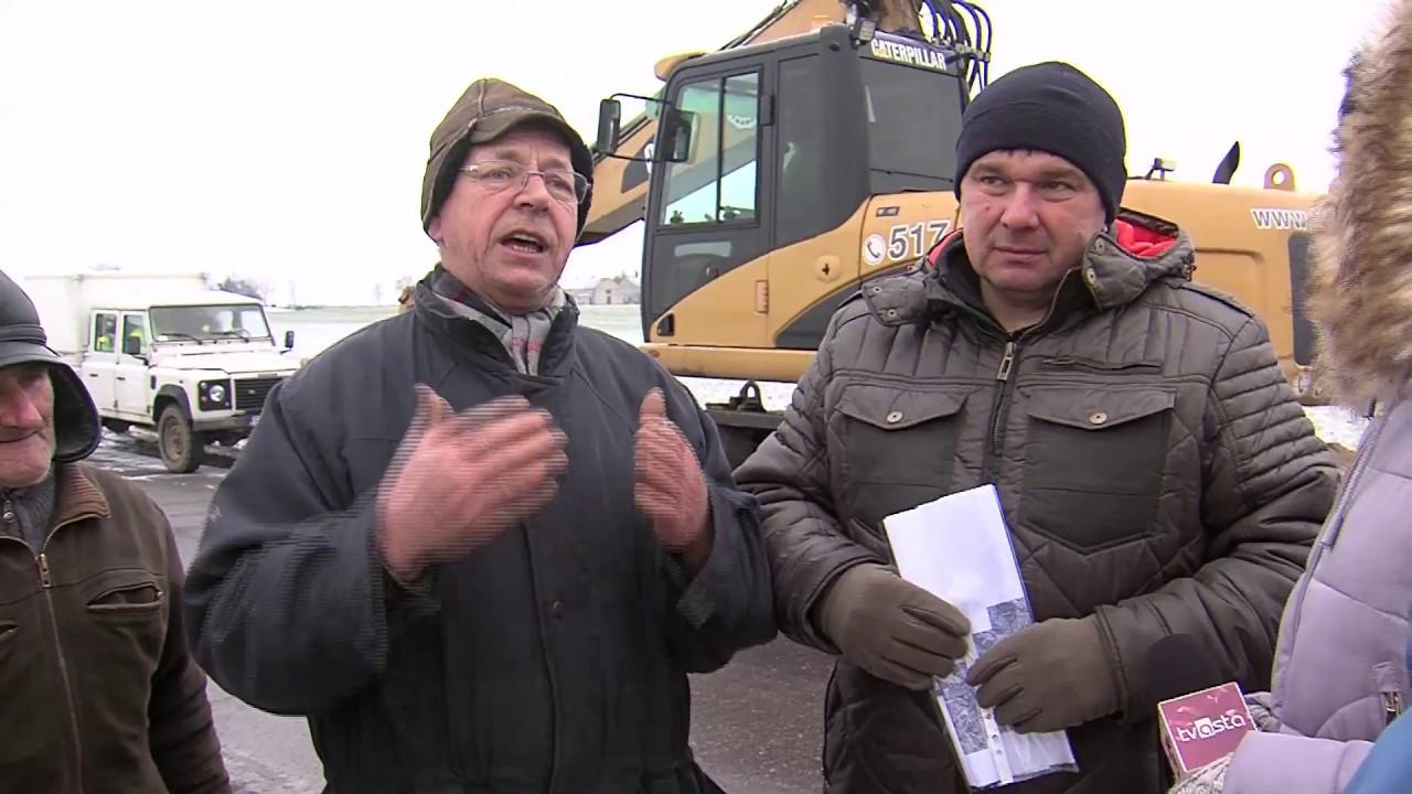 Piła: rolnicy z Kosztowa protestują przeciw budowie linii wysokiego napięcia