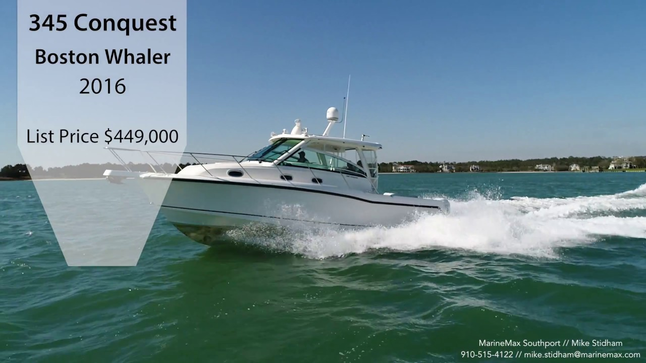 2016 Boston Whaler 345 Conquest Boat For Sale at MarineMax Southport