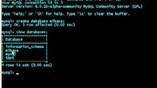 Tutorial de My SQL, Clase 1: Bases de datos