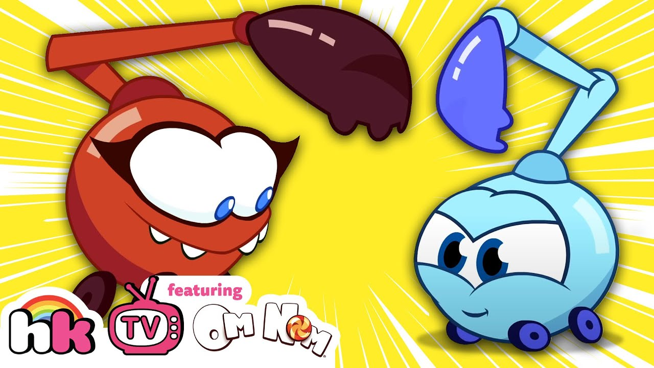Om Nom Stories: Nibble Nom Pretend Play with Toys | Cut The Rope | Funny Cartoons | HooplaKidz TV