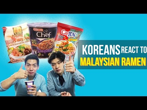 Koreans try Malaysian Maggie for the first time!!