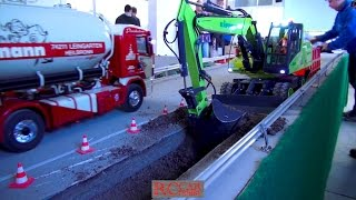 Amazing RC Action - R/C trucks and construction machines in Sigmaringendorf after Xmas - part 1