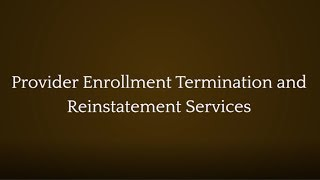 The Law Offices of Joseph J. Bogdan, LLC Video - Provider Enrollment Termination and Reinstatement Services