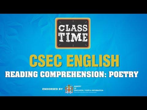 CSEC English - Reading Comprehension: Poetry  - April 21 2021
