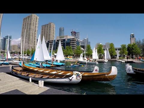 Toronto Beach HTO Park Waterfront Toronto Downtown H20 Park Beach