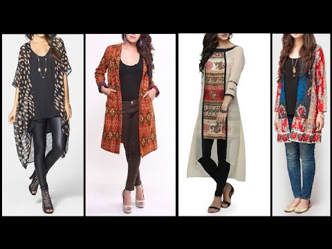 Casual Outfits Fashion for Girls / women | Modern Kimono Cardigan style Dresses collection