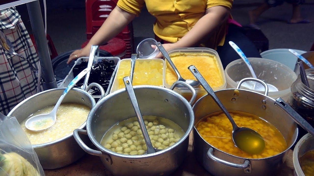 AWESOME Combo Dessert, Mixed Sweet Soup (Chè Thập Cẩm) - Vietnam Street Food