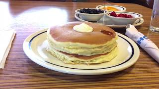 We visited IHOP in DTLA to check out their free short stack giveaway on National Pancake Day | ABC7
