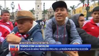 Plaza de Armas: Se empieza a respirar ambiente ''Bicolor''