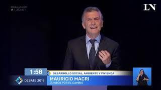 El fuerte cruce entre Alberto Fernández y Mauricio Macri por la pobreza, en el debate