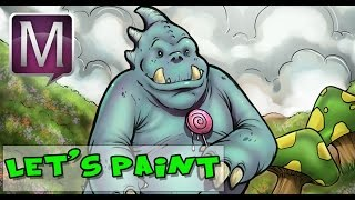 How to Draw and Paint a Cartoon Character - Manga Studio 5 EX - Narrated