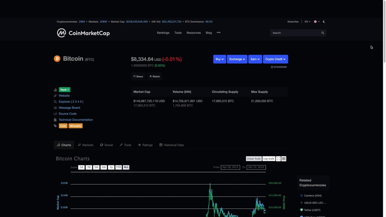 Coin Market Cap - A great starting place to research coins