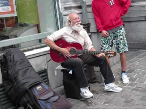 Funny old man in brussels
