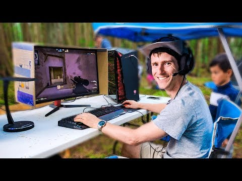 Outdoor Gaming – Ultimate Camping Battle Station!
