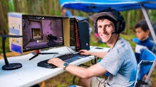 Outdoor Gaming - Ultimate Camping Battle Station!