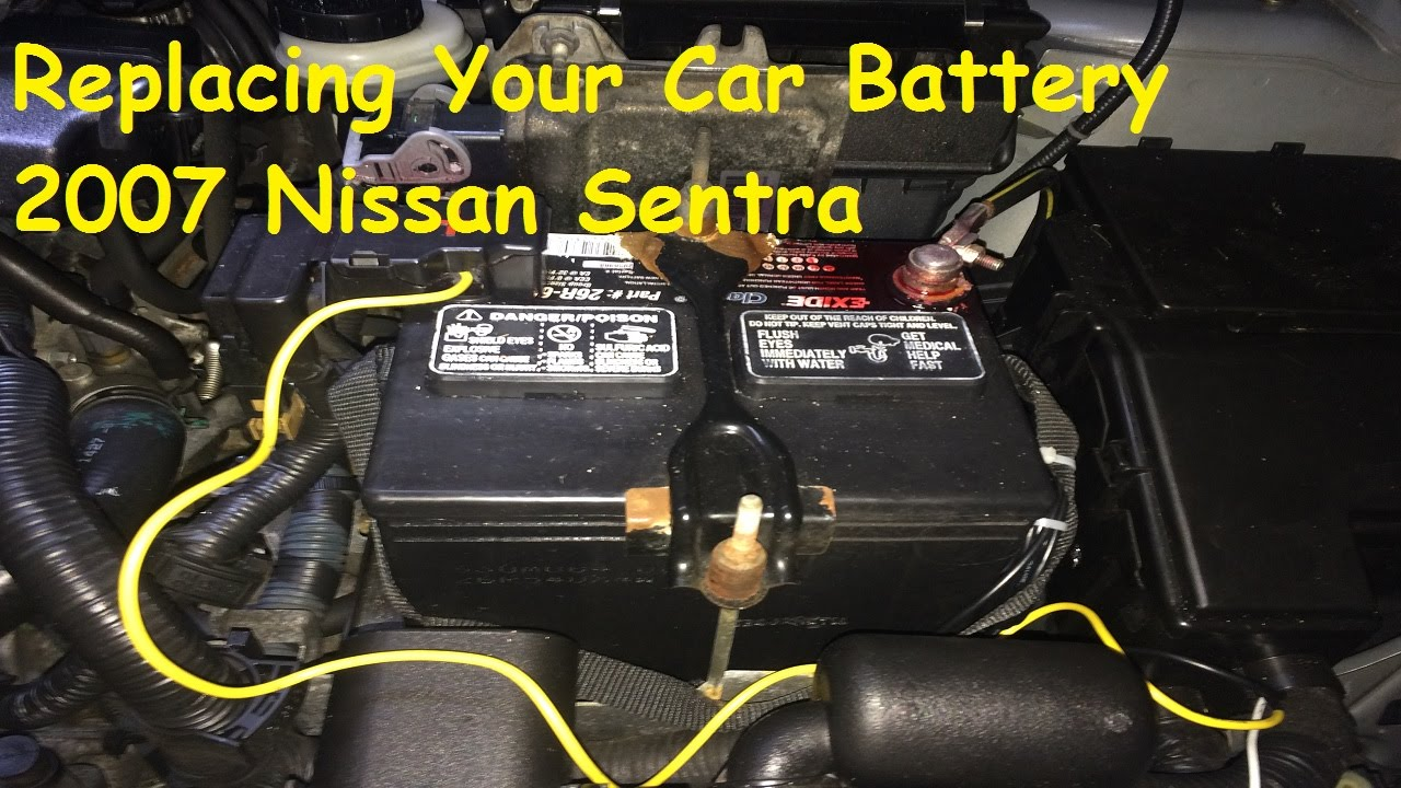 maxresdefault replacing a car battery 2007 nissan sentra 2 0 youtube Ford Expedition Wire Harness at fashall.co