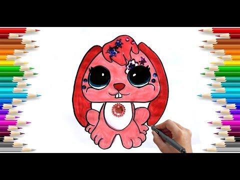 Miniş Boyama Simli Tavşan Glitter Littlest Pet Shop Painting