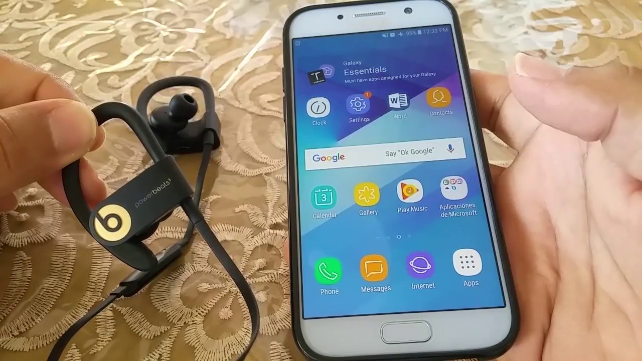 6b090e30d5a How to pair Powerbeats 3 to Android phone (Samsung Galaxy) - YouTube