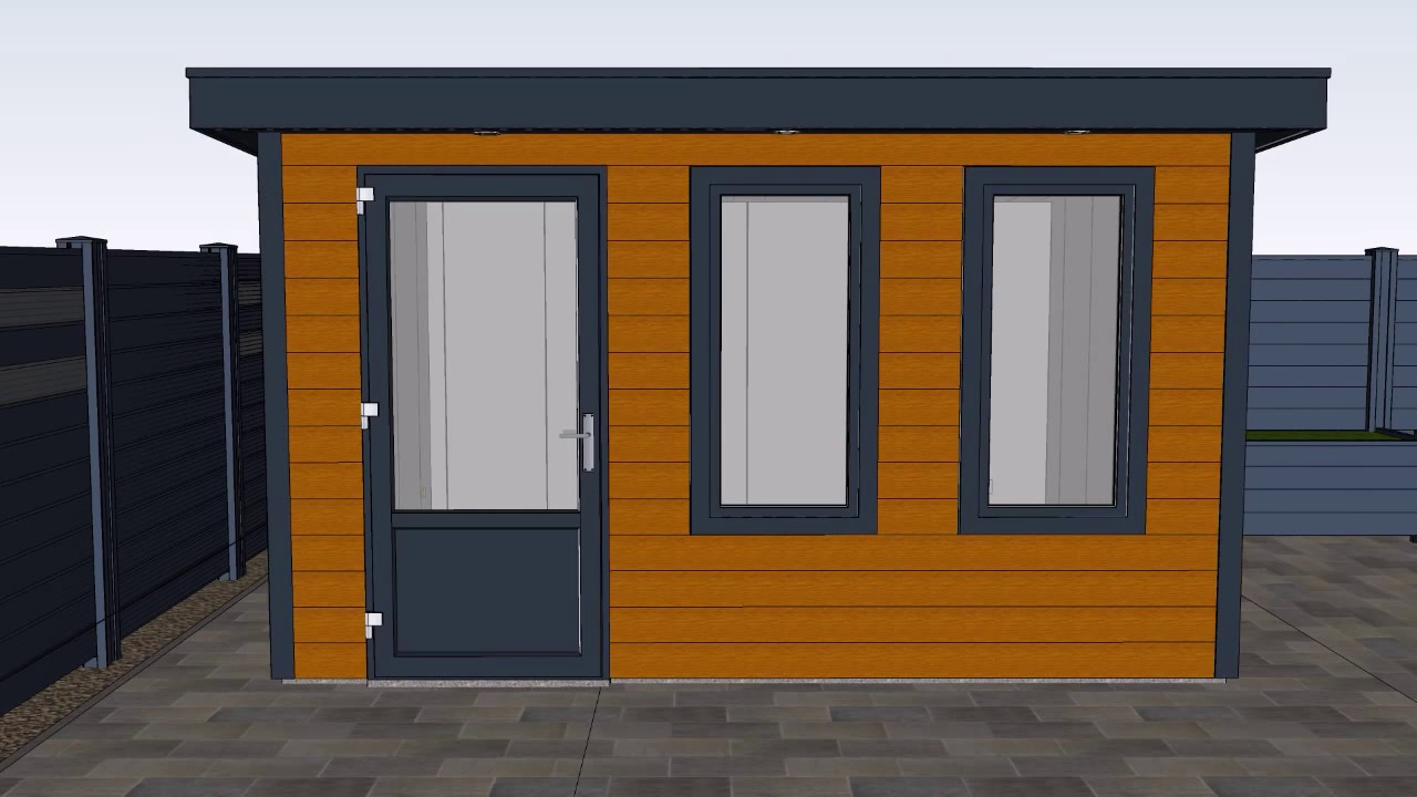 romahaus-kunststoff gartenbüro selber bauen - wir zeigen wie es geht