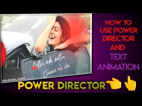 How to Create Whatsapp status / Stylish Text Animations / Power Director Tutorial / Crazy worker thumbnail