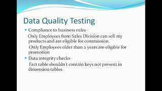 ETL testing tutorial 2 : Basic Testing Strategies/Categories Explained