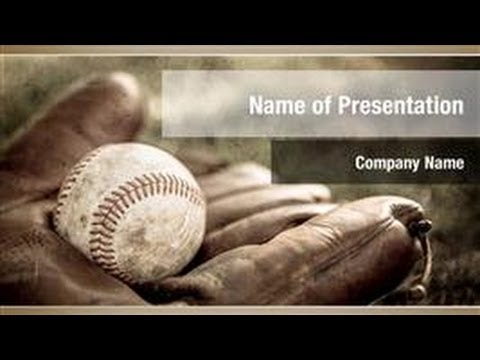 Baseball Sport Powerpoint Template Backgrounds - Digitalofficepro