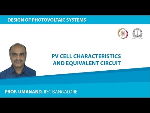 PV02:  PV cell characteristics and equivalent circuit