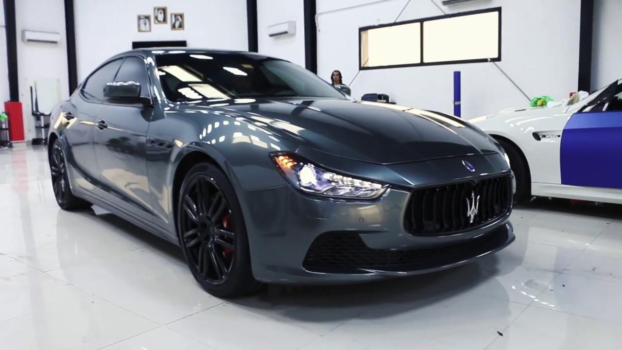 Maserati Ghibli 2016 Full Body Wrapped In Dark Grey By Royalcar3m