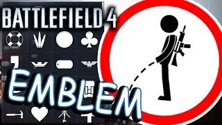 Battlefield 4 EMBLEMS. Hardline. Noob in action!