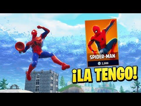 COMPRE LA SKIN DE ''SPIDERMAN'' en FORTNITE😱 (No clickbait) - Fortnite