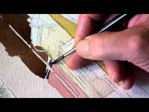 painting the four corners part2 with watercolor artist