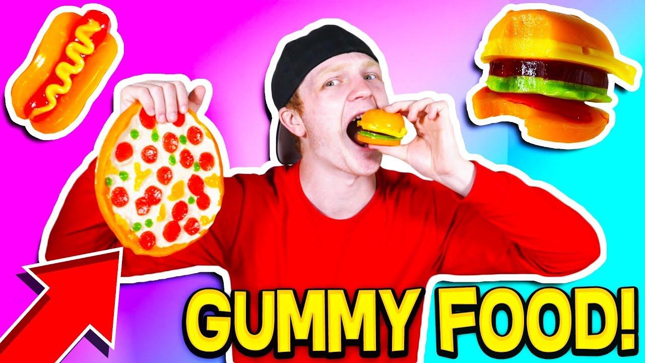Gummy Food Vs Real Food Eating Giant Gummy Food Youtube