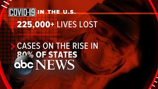 US coronavirus cases surge as hospitalizations, deaths spike l GMA