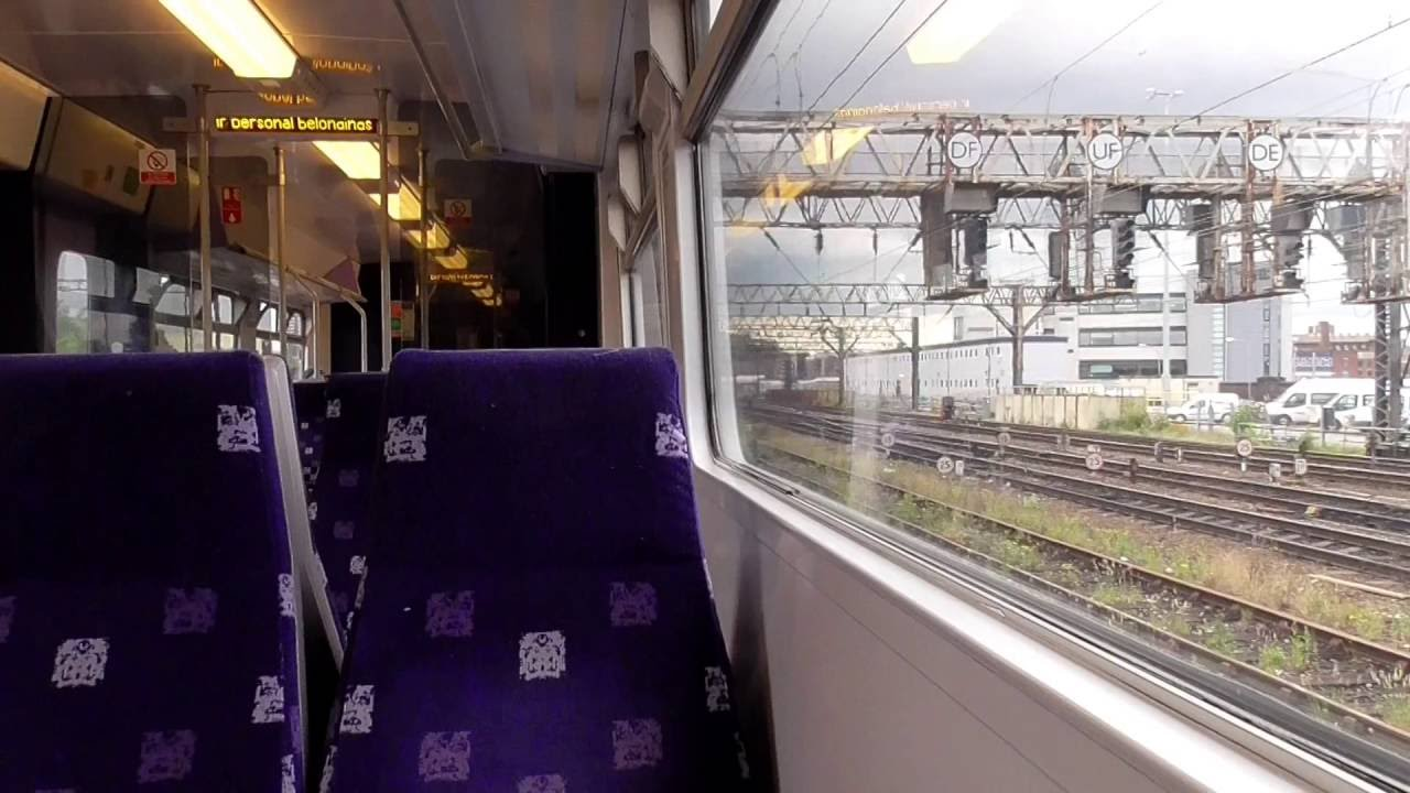 Leaving Manchester Airport On A Northern Rail Electrics Class 319 (22/6/16)