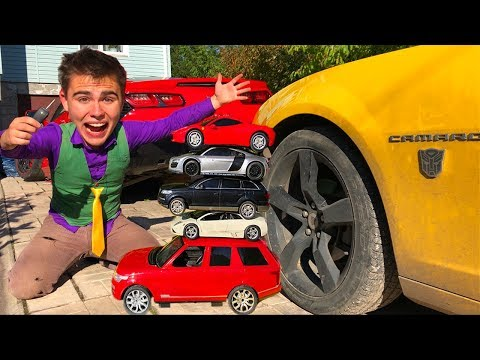 Mr. Joe found Toy Cars in Big Opel Vectra OPC & Corvette with Scotch Tape in Tire Service for Kids