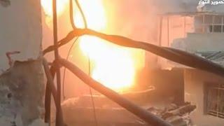 كيف دمر ثوار وادي بردى الدبابة الروسية T82 المصفحة على مدخل بلدة عين الفيجة