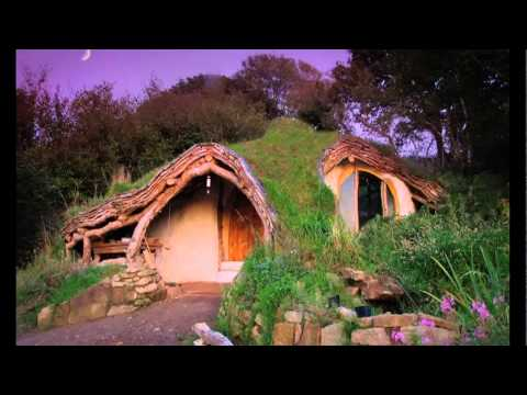 "Green Home Design - The ""Hobbit"" Tiny House Design - The $4500 Self Built Eco-friendly Tiny Home"