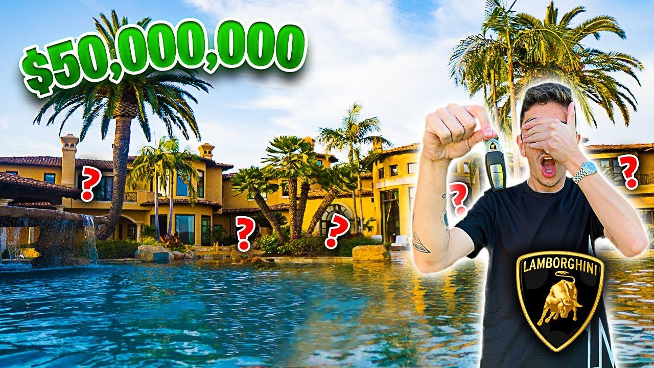 Hide N Seek In A 50 000 000 Mansion Winner Gets Car Youtube
