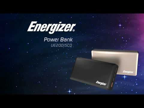 Energizer® Metallic Power Bank with Quick Charge 3.0 & Triple Outputs  (UE20015CQ)