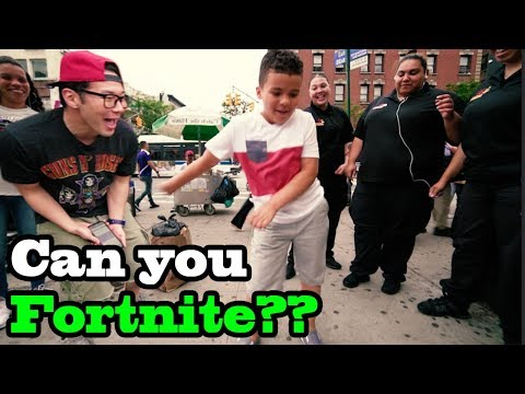 FORTNITE DANCES in Real Life Challenge with STRANGERS (IN PUBLIC!!)