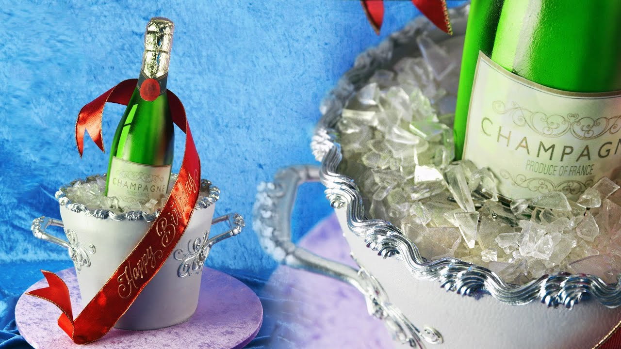 Ghow To Make Champagne Glass Fondant