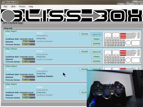 Bliss-Box 4-play API : pressure buttons